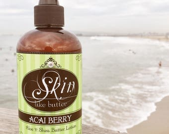 Body Butter Lotion // ACAI BERRY // Thick like body butter // Available in an 8 oz bottle or jar // non-greasy