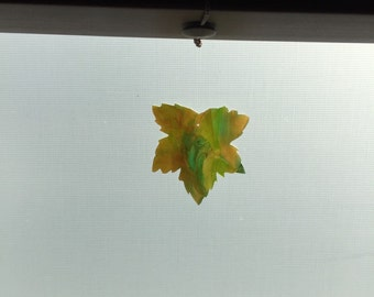 Stained Glass Maple Leaf
