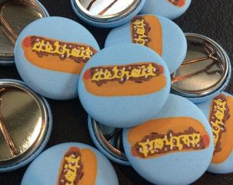Detroit Coney Dog Button