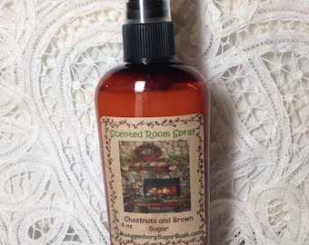 Room Sprays, Chestnuts, brown sugar, room freshener, primitive room sprays, teacher gift, 4 oz bottle, teacher gift, Moeggenborg Sugar Bush