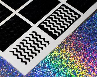 chevron muster nagel vinyls nagel abziehbilder nail art nail sticker - Kunstnagel Muster