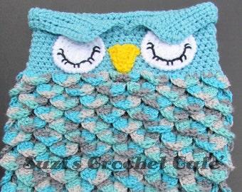 Owl cocoon etsy lil owl cocoon crochet pattern dt1010fo