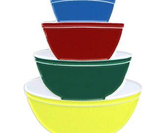 Pyrex Primary Color Mixing Bowls (enamel pin)