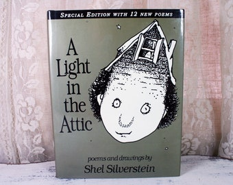 """Shel Silverstein """"A Light In The Attic"""" Book Special Edition Original Hardcover 12 New Poems"""