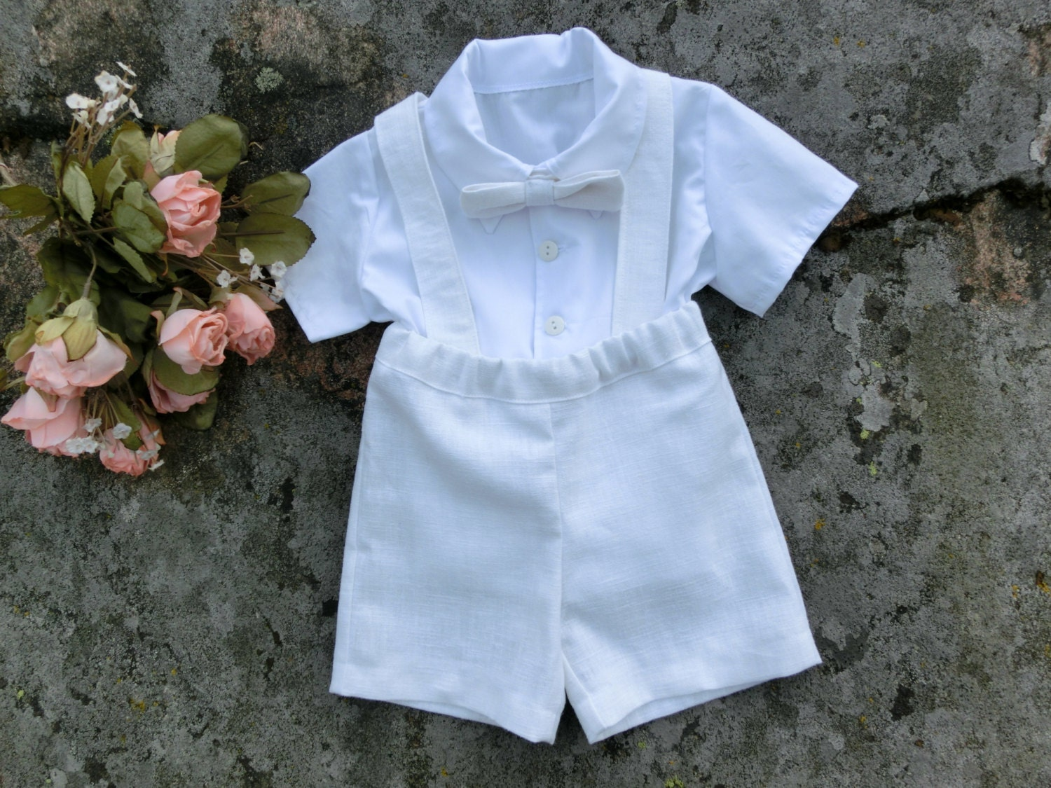 Boy baptism outfit. Baby christening outfit.Toddler boy