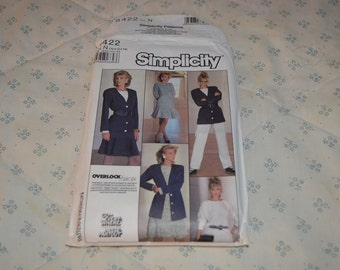 Simplicity Pattern for Misses Skirt, Pants, Top, and Jacket sizes 10-12-14