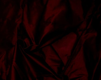Fine Indian Silk Taffeta in WineRed/Burgundy, Fat Quarter-TF 18