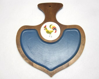 Rooster Cheese Tray Trivet Cutting Board Chicken