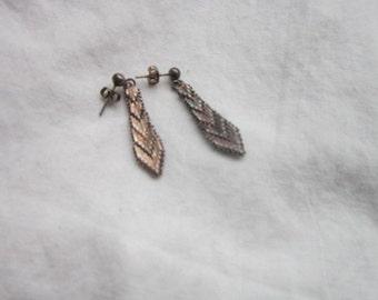 Vintage Well Made Sterling Silver Dangle Pierced Earrings
