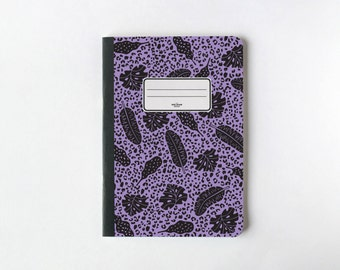 Jungle dans les pages de carnet de lilas - pages vierges : Journal - carnet de croquis - - doublé