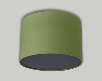 Green Ceiling Drum Lampshade with Dark Grey Diffuser Lightshade Lamp Shade 20cm 25cm 30cm 35cm 40cm 50cm 60cm 70cm
