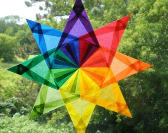 Rainbow Window Star Sun Catcher with 8 Points