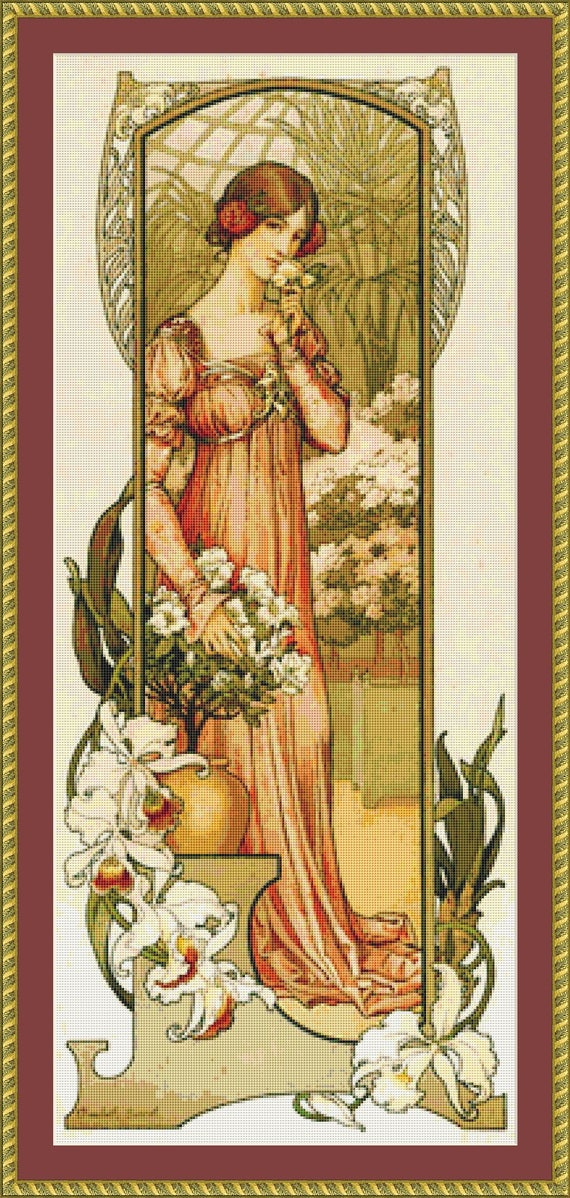 Fleur De Serre Cross Stitch Pattern - Instant Download / Digital PDF Files