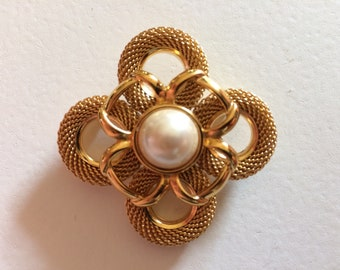 MONET Gorgeous Faux Pearl Brooch