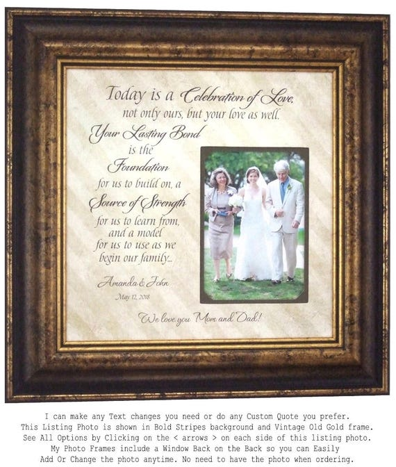Personalized Wedding Gifts For Parents: Personalized Wedding Gift For Parents Mom And Dad Wedding
