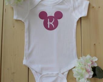 Disney Inspired Bodysuits, Disney Family Shirts, Mickey Head Shirts, Mickey Initial Shirts, Disney Initial Bodysuits, Disney Initial Onesies