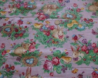 20 Easter Fabric by Cranston. Adorable gingham print. 20