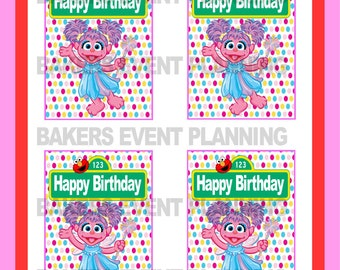 Sesame Street Abby Cadabby CapriSun birthday tags, labels, download, printable