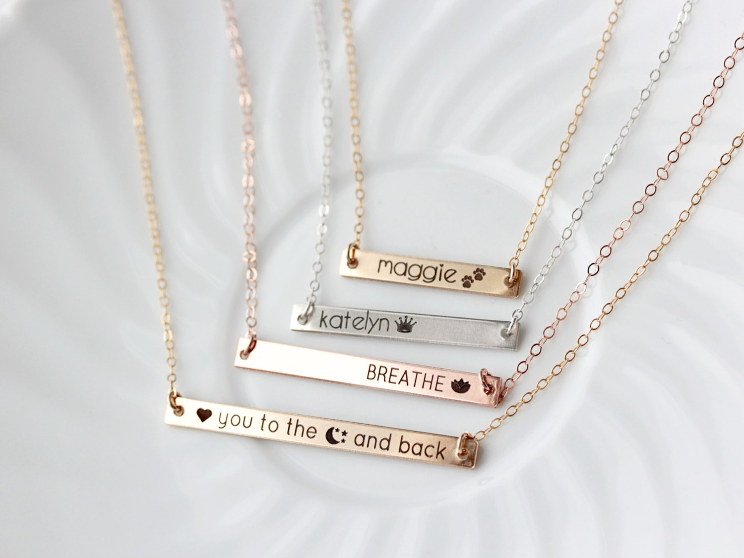 her roman necklace anniversary date with numerals for