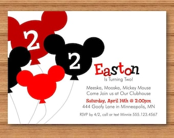 Printable Mickey Mouse Party Invite DIY