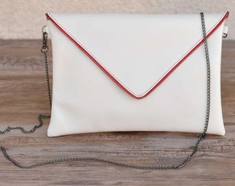 Sparkly red and white bag