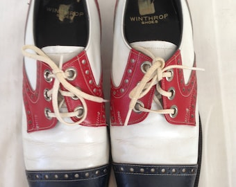 Red, White and Blue Men's Oxfords Size 8.5
