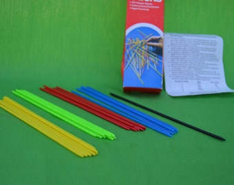 Pick Up Sticks, Vintage Pick Up Sticks, Retro Pick Up Sticks, Pick Up Stick Game, Vintage Pick Up Sticks Game