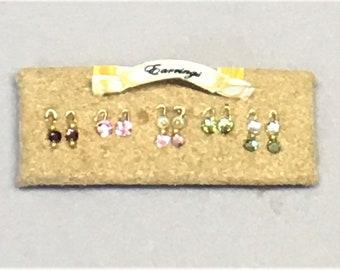 Dollhouse Miniature 1:12 Scale – Earring Display