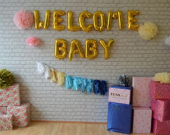 Captivating Welcome Baby Banner | Etsy