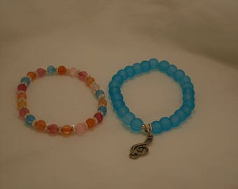 Frosted Glass Stacking Bracelets