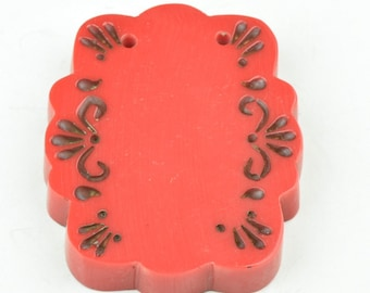Bakelite rectangle scoll piece  56mm sold by each N5007