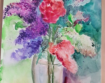 Floral Watercolor Abstract