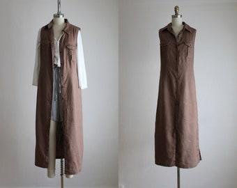 linen maxi dress/duster