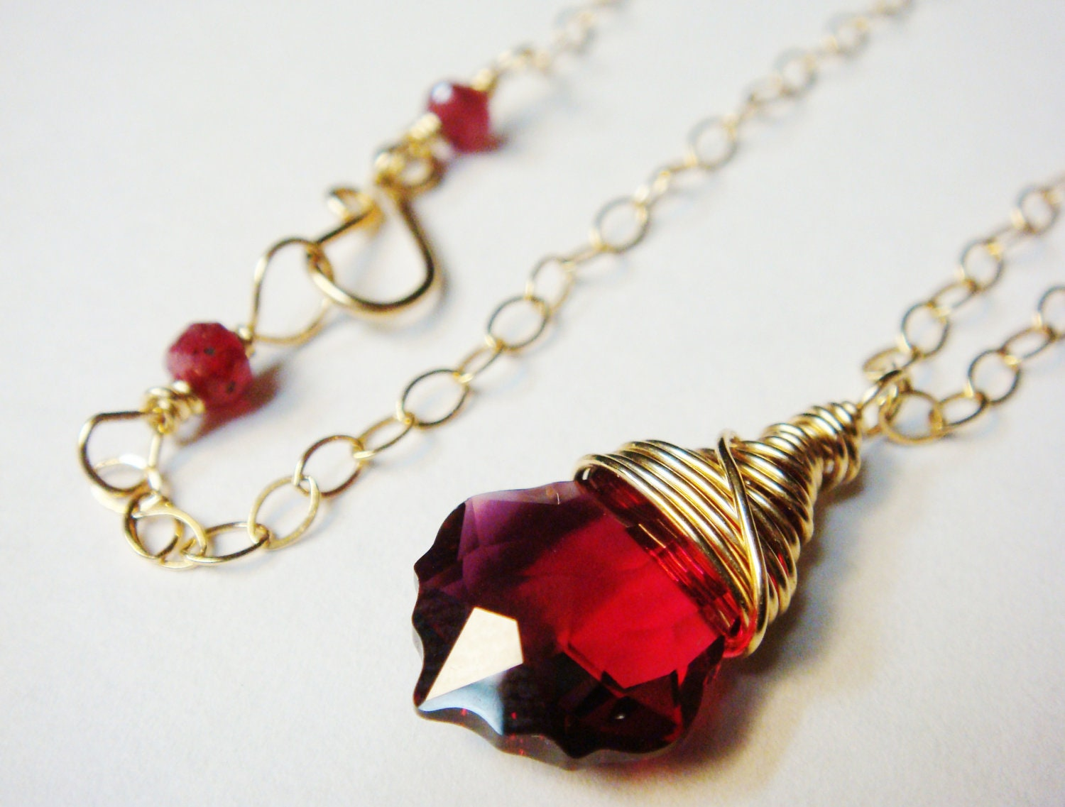 necklace out pendant in yellow icedgold gold red iced products ruby