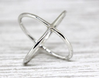 The Crisscross: Solid Sterling Silver Handmade Ring