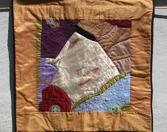 VIRGIN IN GOLD - Art Quilt