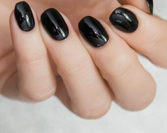Black Eye - Custom Galaxy Black Creme Nail Polish