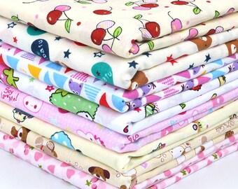 Kawaii Cute Style Hand DIY Cartoon Patterns Prints-Natural Cotton Fabric Cloth For Dress/Pajamas/Bedding