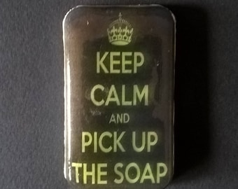 "Original soap "" Keep Calm & Pick up the soap "" Green apple fragrance"