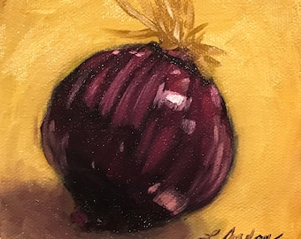 Red Onion Oil Painting
