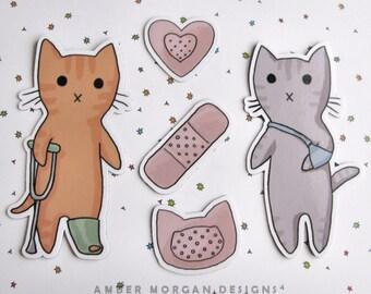 Chat mignon aimant situé, réfrigérateur aimants, armoire Decor, vétérinaire cadeau, chat aimant, Magnet, Magnet chat mignon, Funny Cat aimants pour réfrigérateur