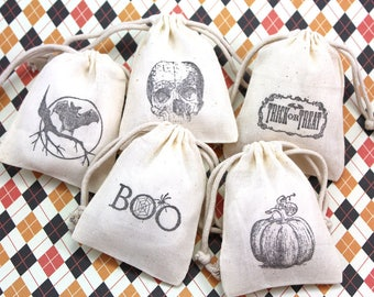 Halloween Treat Bags Set of 10 - party favors, birthday, trick or treat