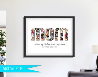 Mother's Day Gift, Photo Gift For Mom, Gift for Mom, Photo Collage Gift, Mothers Day Gift, Gift for Wife, Gift for Nanny, Printable