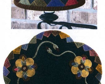 Wool Applique Table Mat and Lampshade Pattern - Shades of Summer -   LAS 312