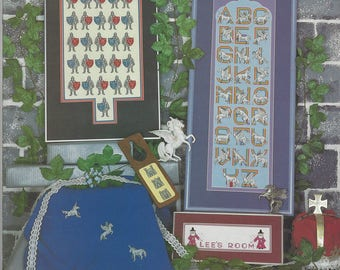 """Clearance - """"Fantasy Alphabets"""" Counted Cross Stitch Chart by Pegasus Originals"""