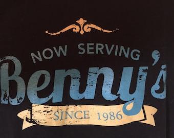 BENNY'S on the BEACH Restaurant   Ocean Ave.  Lake Worth,  Florida --T shirt Adult xl    y