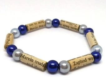 Hitchhikers Guide to the Galaxy Paper Bead Bracelet