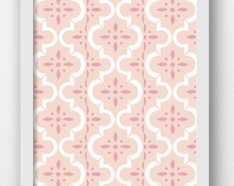 Moroccan, Printable Art, Moroccan Wall Art, Pink and White Prints, Geometric Wall Art, Morocco Prints, Moroccan Wall Prints, Pink Wall Art