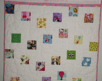 Personalized I Spy a Few of My Favorite Things Baby Girl Quilt