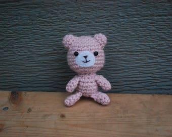 Amigurumi Pink Bear, Crochet Bear Plushie